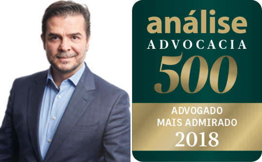 "Senior Partner Renato Franco de Campos named: ""Most Admired Lawyers"", Civil Law Practice"